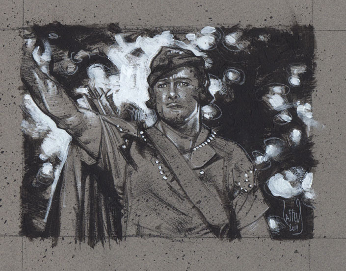 Errol Flynn as Robin Hood, Artwork Copyright © 2014 Jeff Lafferty