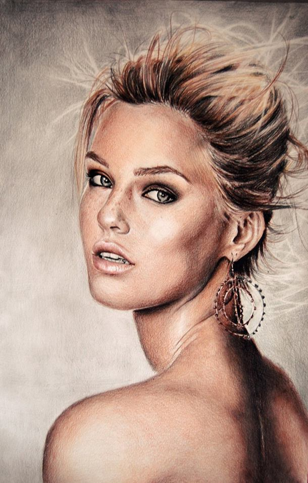 Bar Refiele Color Pencil Drawing By Valentina Zou