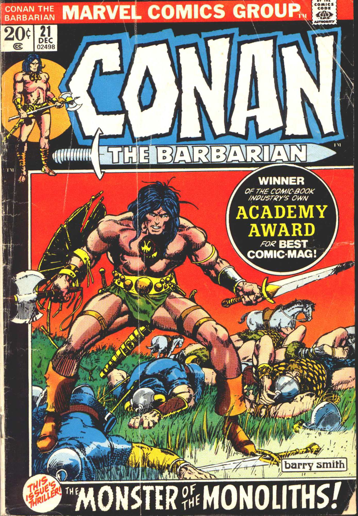 Conan the Barbarian (1970) Issue #21 #33 - English 1