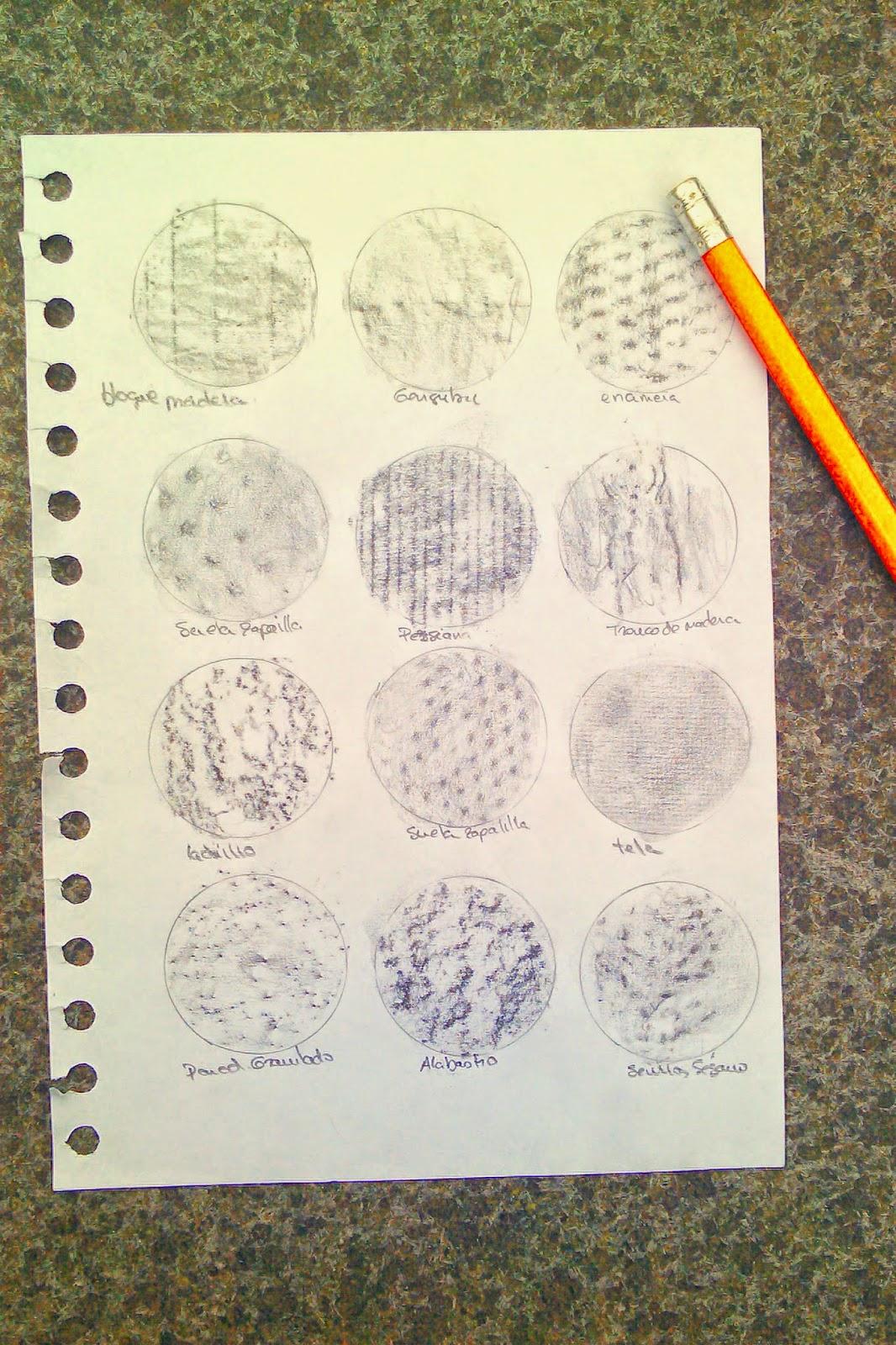 Técnicas de dibujo (texturas): técnica de frottage   CandyTutoriales