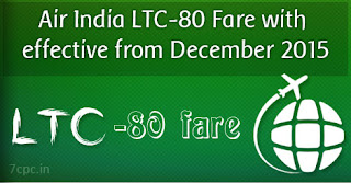 Air India LTC-80 Fare