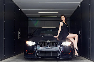 Sexy Babe And Bmw HD Wallpaper