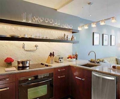 Estantes de cocina decoraciones cocinas for Estantes para cocina pequena