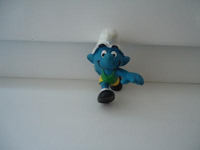 Hurdler Smurf Figure Peyo Schleich 1980