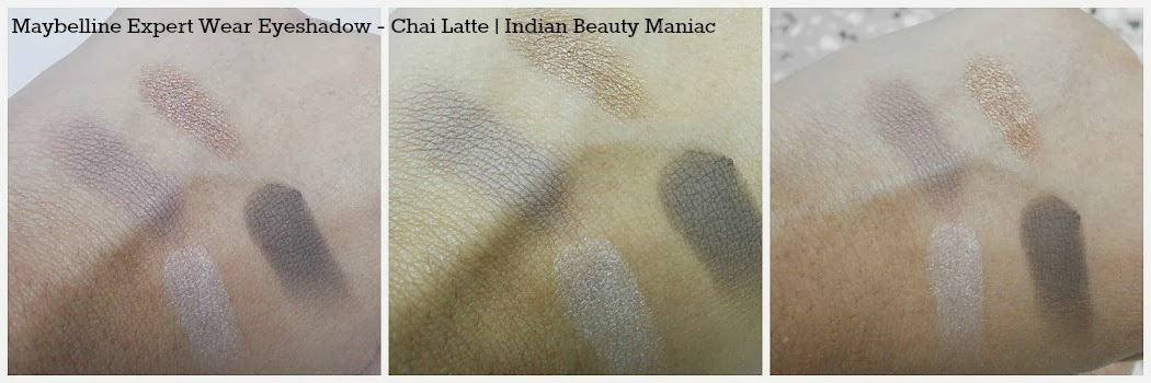 Maybelline New York Expert Eyes Chai Latte Eye Shadow Quad Swatches
