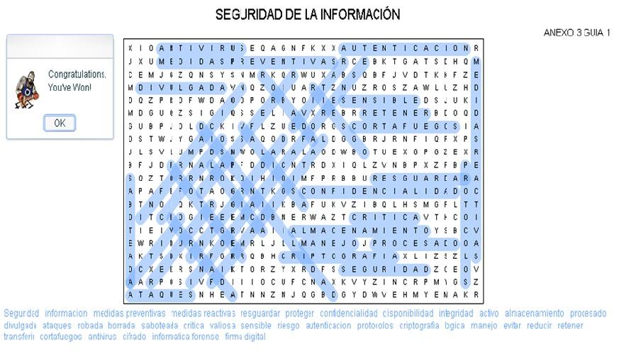 Blogg de Mauricio Henao: SOPA DE LETRAS SEGURIDAD DE LA INFORMACION