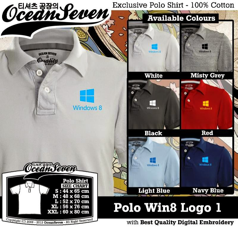 Kaos Polo Win8 Logo 1