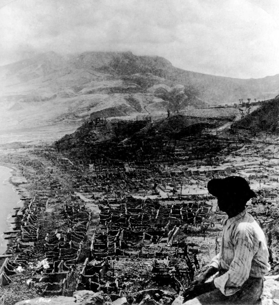 Картинки извержения вулкана мон пеле