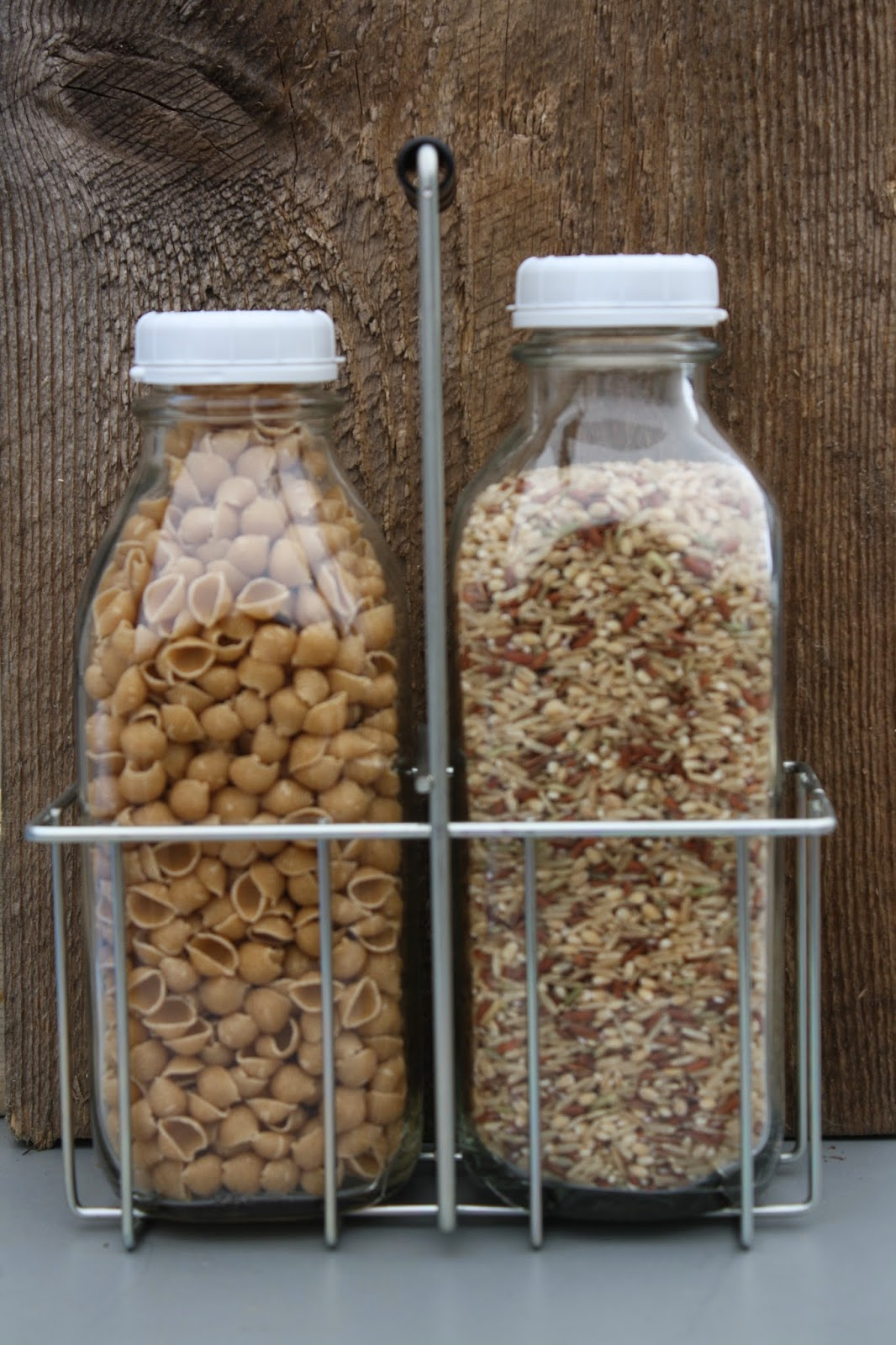 Red hill general store 14 glass milk bottle ideas for organization mix the last few ounces of cereals together in one milk bottle for a cereal surprise jar ccuart Images
