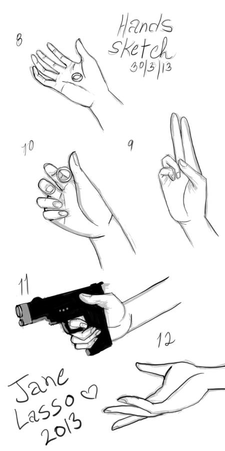 Práctica de dibujo de manos