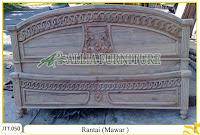Tempat tidur ukiran kayu jati Rantai ( Mawar )