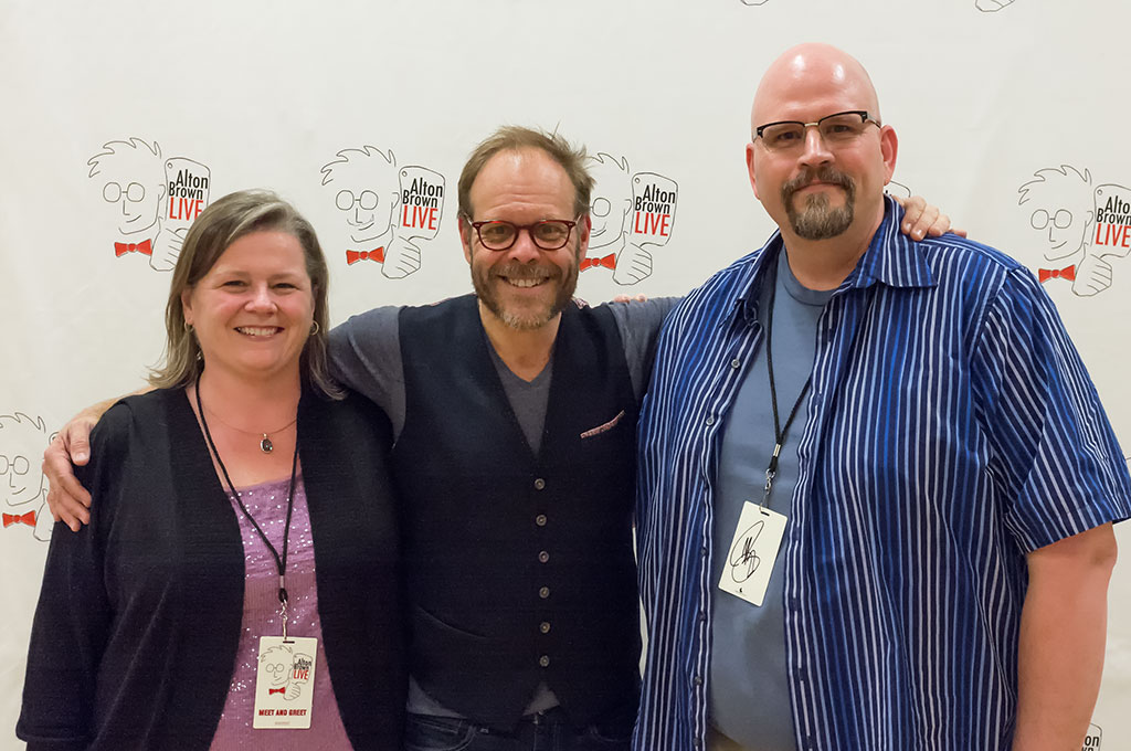 Peg, Alton Brown, and Bubba