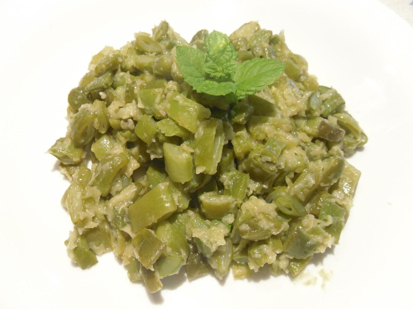 Esparregado de feijão verde