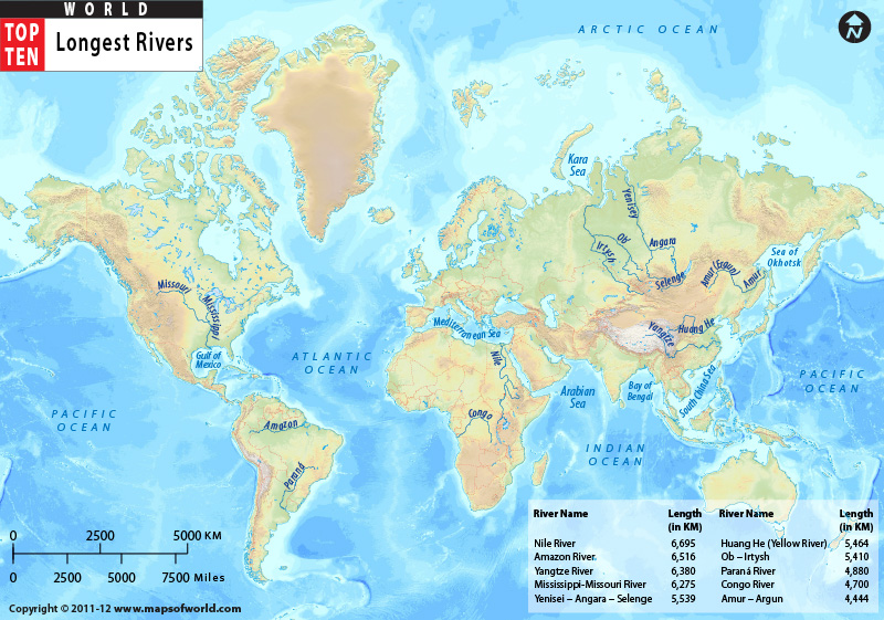 Art Design Landscape The Worlds Longest Rivers