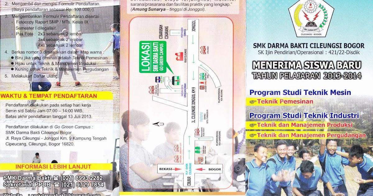 Brosur Leaflet Pamflet Ppdb Smk Darma Bakti Smk Darma Bakti