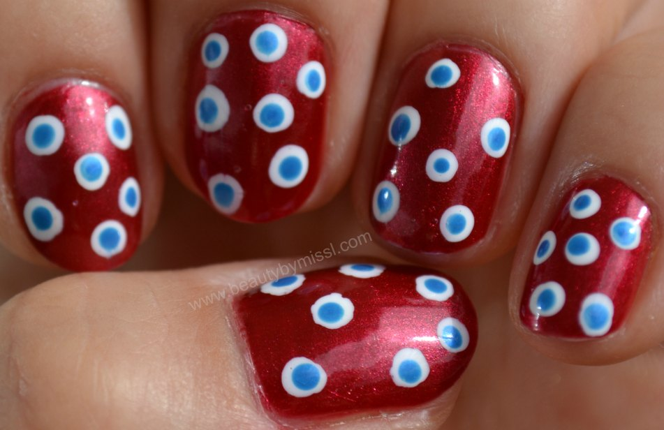 manicure, nails of the day, 4th of July