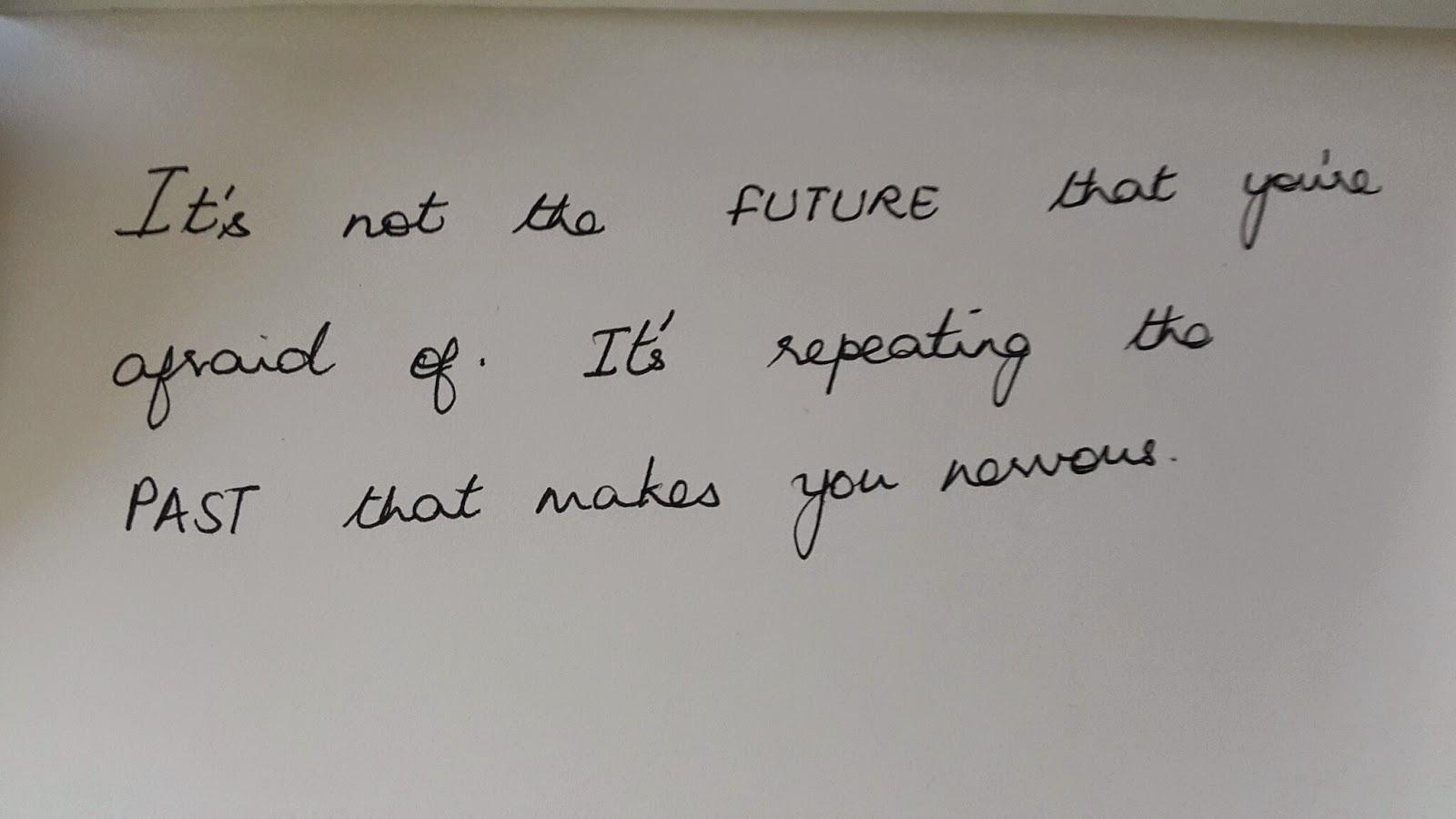 My handwriting on handwriting day.