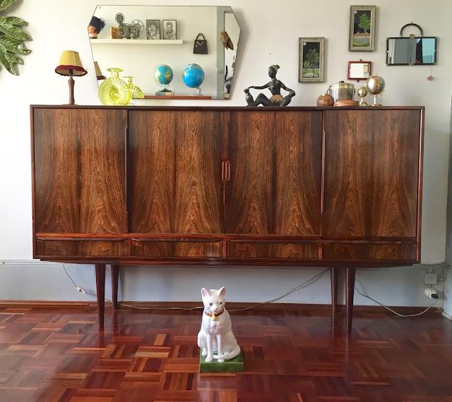 sideboard, aparador, vintage, design nórdico, pau santo