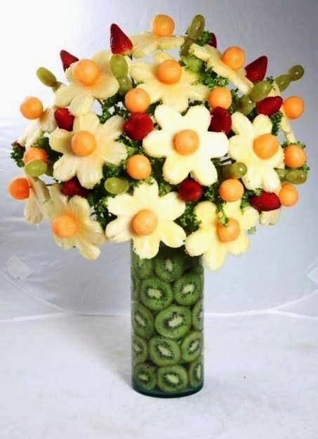 Fruits flower bouquet art craft gift ideas Floral arrangements with fruit