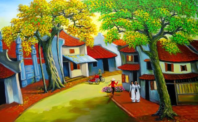 Tranh sơn dầu phong cảnh 1