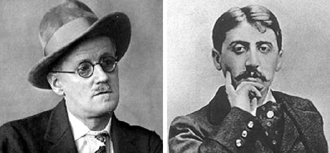 James Joyce e Marcel Proust