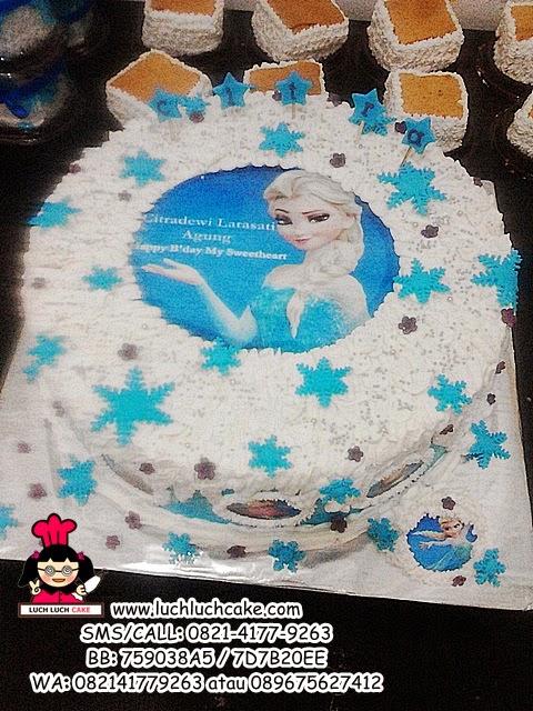 Kue Tart Frozen Princess Elsa Edibel Image Daerah Surabaya - Sidoarjo
