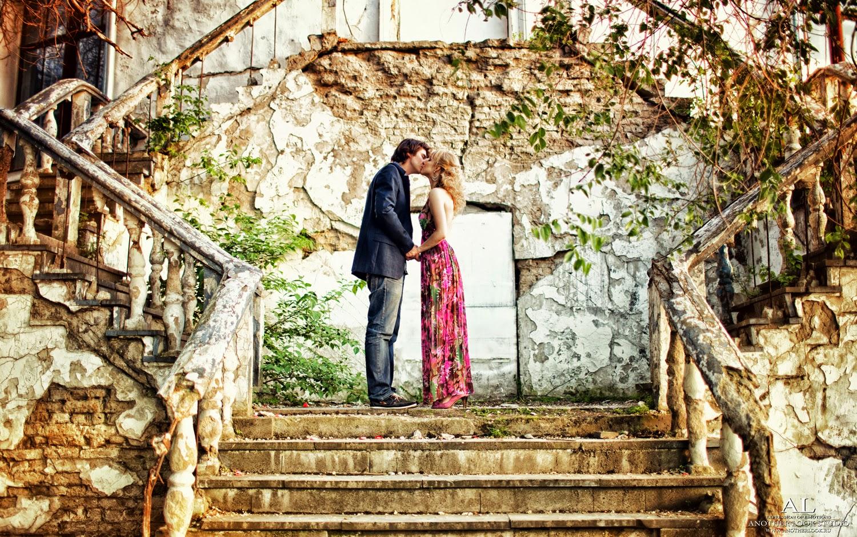 Фотосессия на старинной лестнице