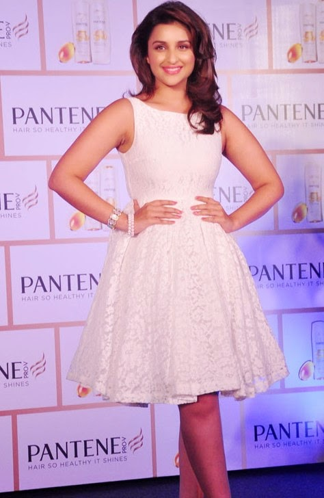 Parineeti Chopra launched and promoted the new Pantene shampoo in Mumbai