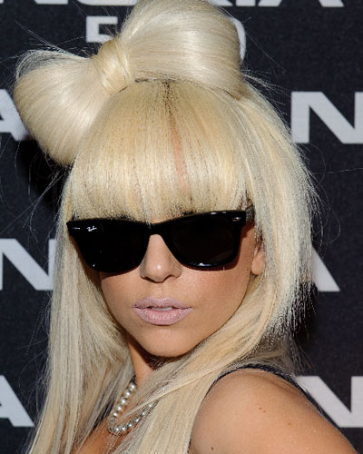 The bow was inspired by Lady Gaga's hair bow!