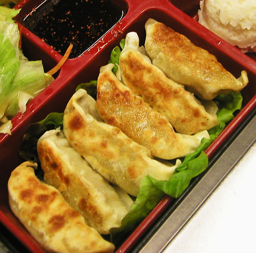 ... gyoza curry potstickers shrimp pork dumplings ebi to butaniku no gyoza