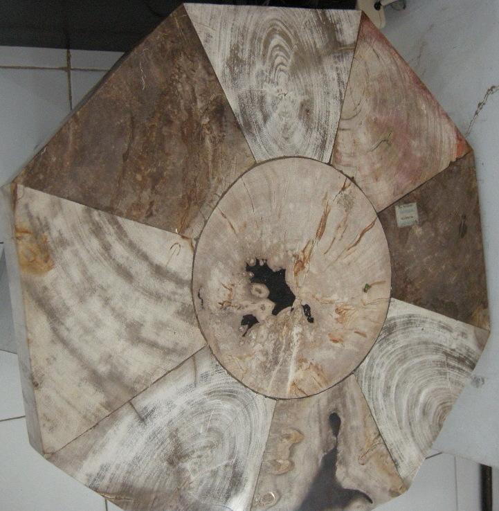 Petrified wood table tops indogemstone for Petrified wood furniture for sale