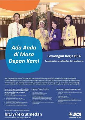 Lowonga kerja resmi BCA Medan