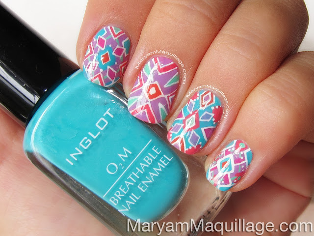 Maryam Maquillage Summer Kaleidoscope Hand Painted Nail Art