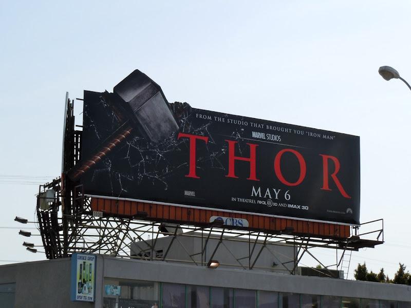 Thor hammer billboard