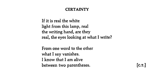 """The Enthusiast: thinking about things: """"Certainty"""" by Octavio Paz ..."""