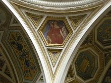 Pennacchio elemento che unisce l' imposta di una cupola con la struttura ad essa sottostante