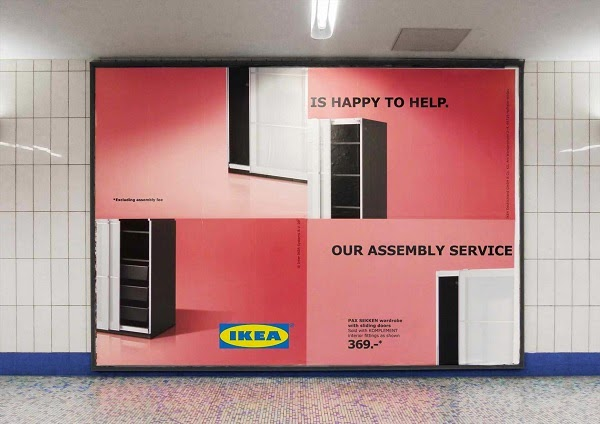 Designtaxi   Playful IKEA Billboards Poke Fun At Its Self Assembly Furniture