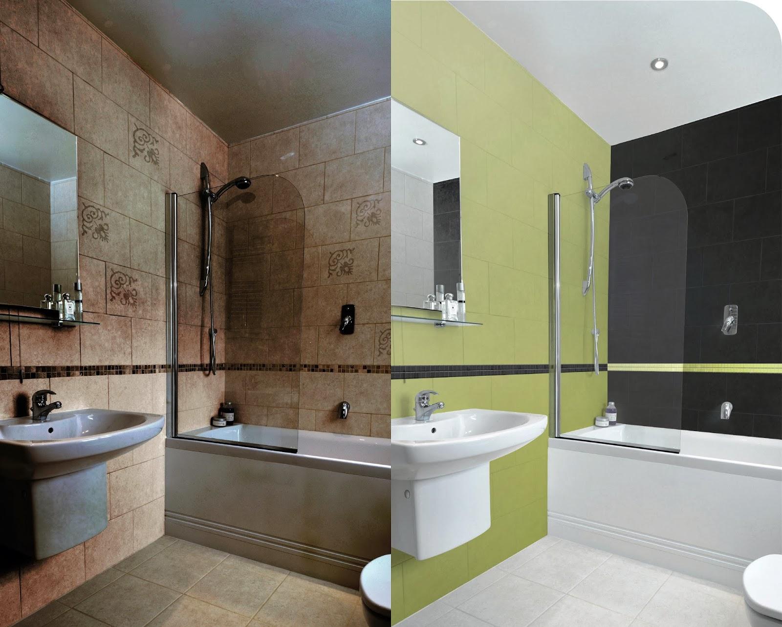 Ba o sin azulejos paredes for Renovar el cuarto de ba o sin obras decogarden
