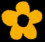 小さな花のイラスト「黄色」