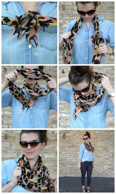 how to tie a circle scarf