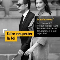 Imagem de Sarkozy e Carla Bruni na campanha