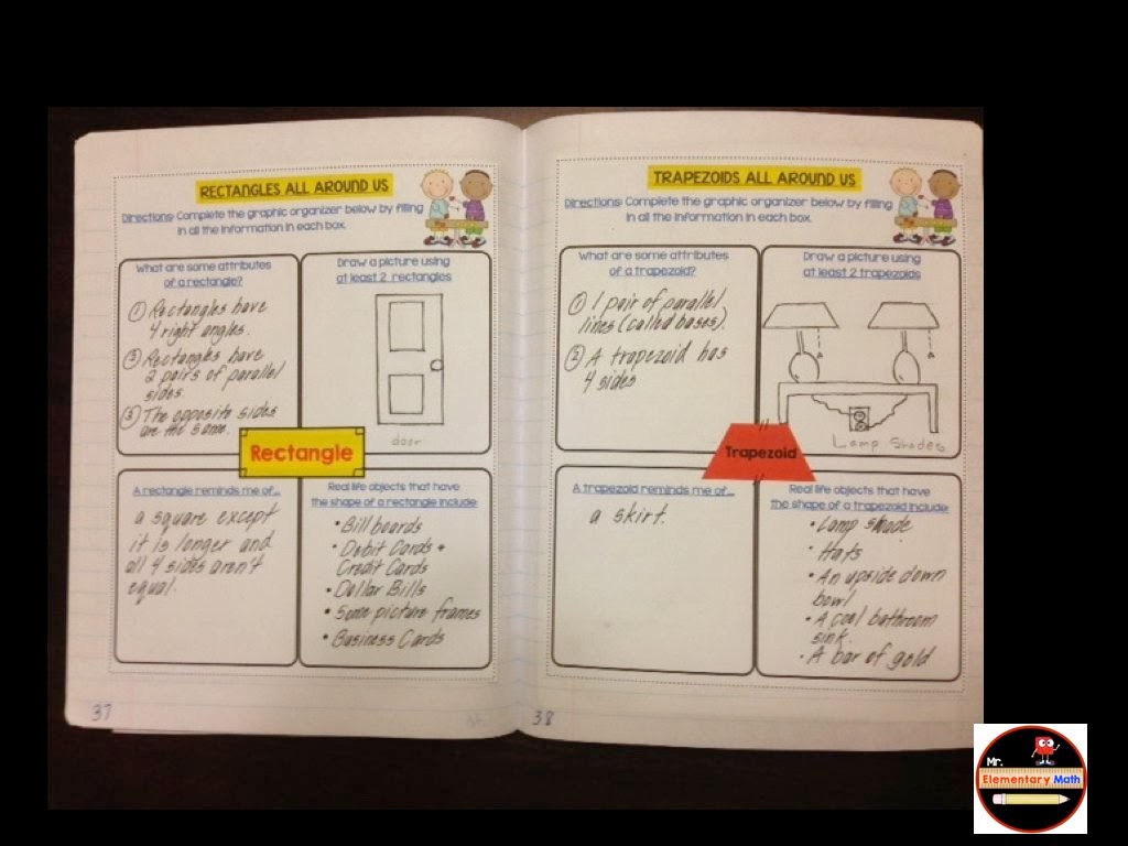 3rd Grade Geometry Interactive Notebook - Mr Elementary Math