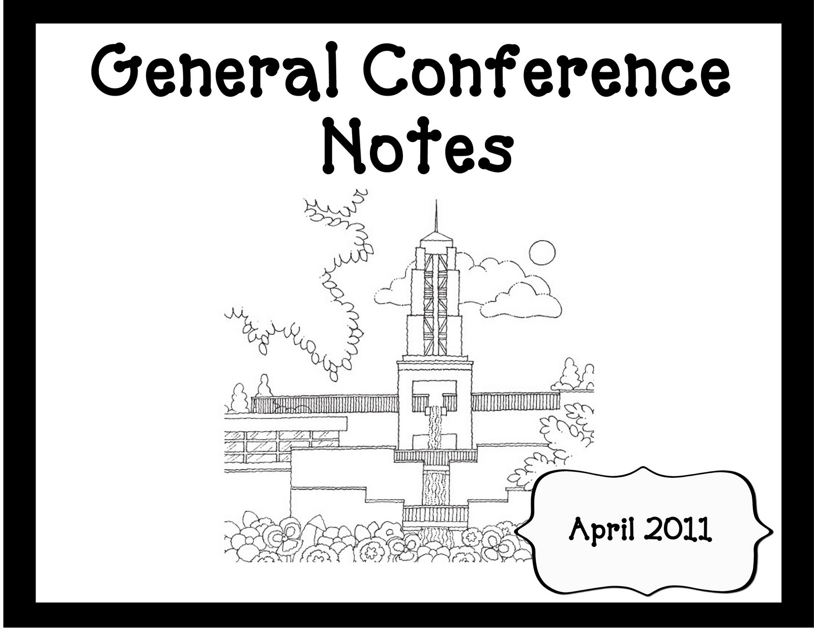 General Conference Packet Oopsey Daisy