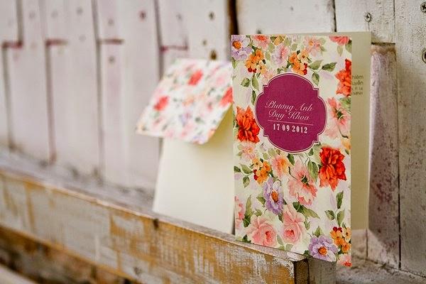 Thiệp cưới đẹp với phong cách Vintage nhẹ nhàng 4