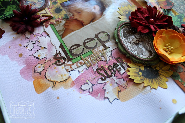 """ Sleep baby Sleep"" layout by Bernii Miller for BoBunny using the Enchanted Harvest collection."