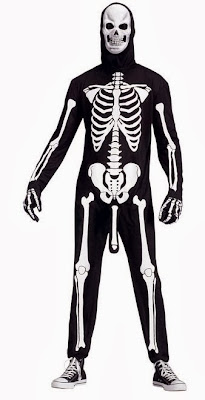A skeleton costume with an extra bone