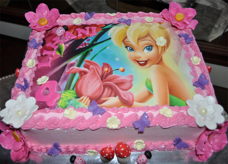 Delanas Cakes Tinkerbell Picture Cake