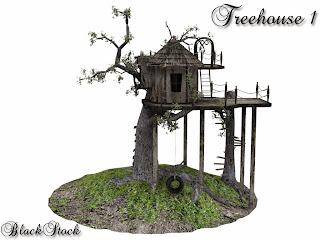 Treehouse 1 by BlackStock Tutorial Surreal Manipulasi Dengan Photoshop