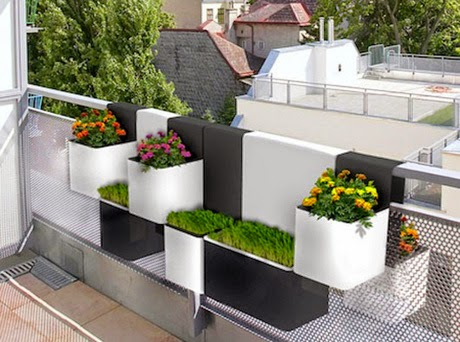 urban house design with beautiful balcony