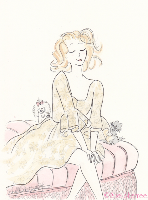Fashion and fluffballs illustration :  Tousled and Tasselled © Shell-Sherree
